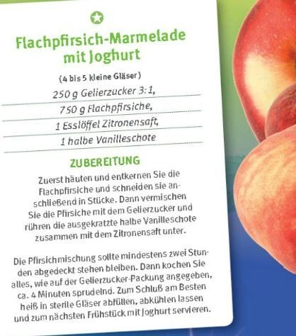 Flachpfirsich-Marmelade mit Joghurt