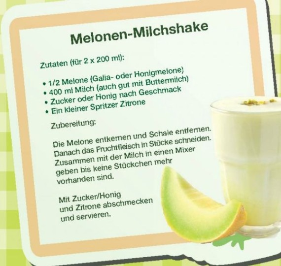 Melonen-Milchshake