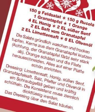 Wintersalat mit Feldsalat, Ruccola und Granatäpfeln