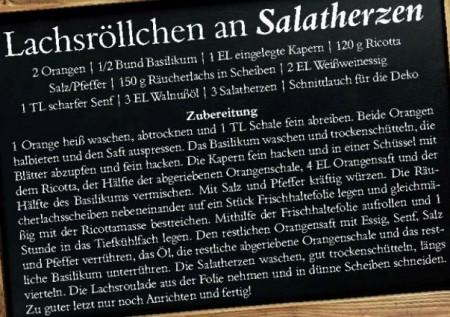 Lachsröllchen an Salatherzen